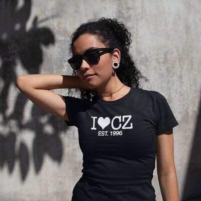 I Love CZ EST. 1996 Black White Women's T-Shirt