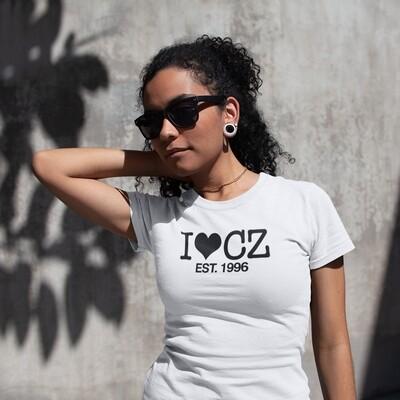 I Love CZ EST. 1996 White Black Women's T-Shirt