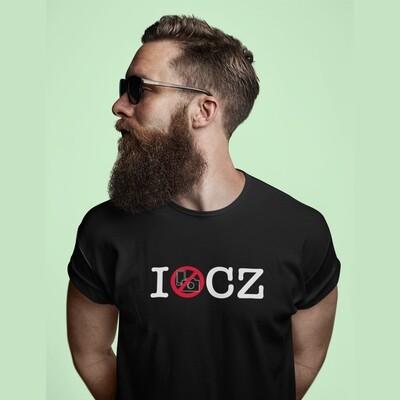 I No Photos CZ Black Red Men's T-Shirt