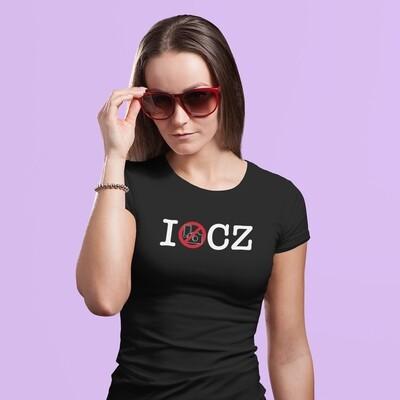 I No Photos CZ Black Red Women's T-Shirt