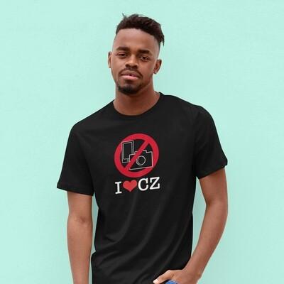 No Photos CZ Black Red Men's T-Shirt