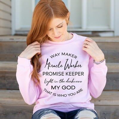 Way maker Miracle worker promise keeper light in the darkness my god that is who you are shirt