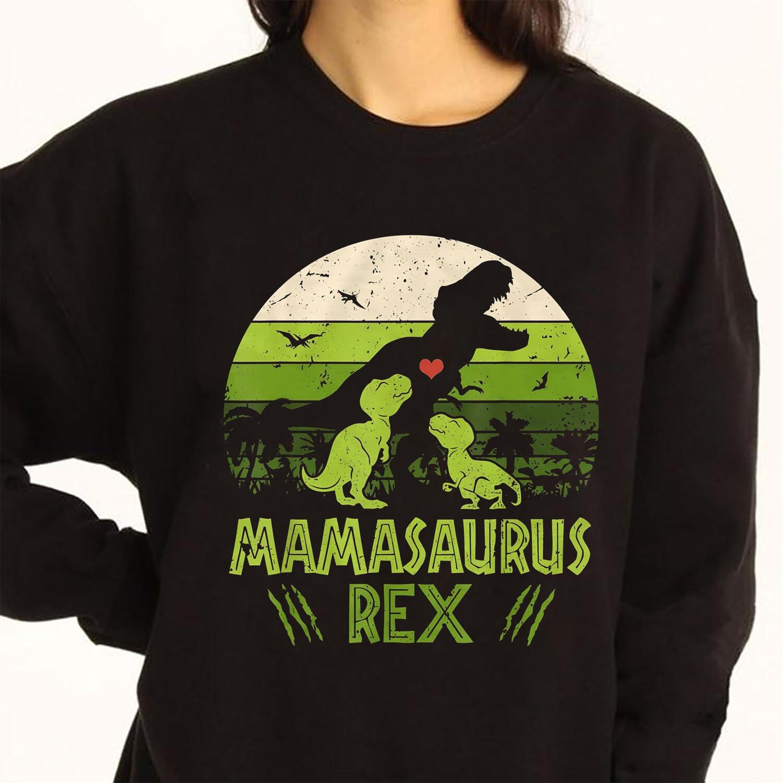 Mamasaurus Rex Jurasskicked Jurassic Park movies T-Shirt gift for Mommy Daddy Baby Dinosaur Lovers
