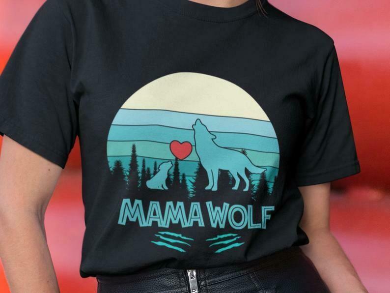 Mama Wolf Shirt, Wolf Shirt, Wolf Pack Shirt, Papa Wolf, Baby Wolf Gift, Wolf Love, Little Wolf, Howling Wolf Shirt, Lone Wolf, Desert Wolf
