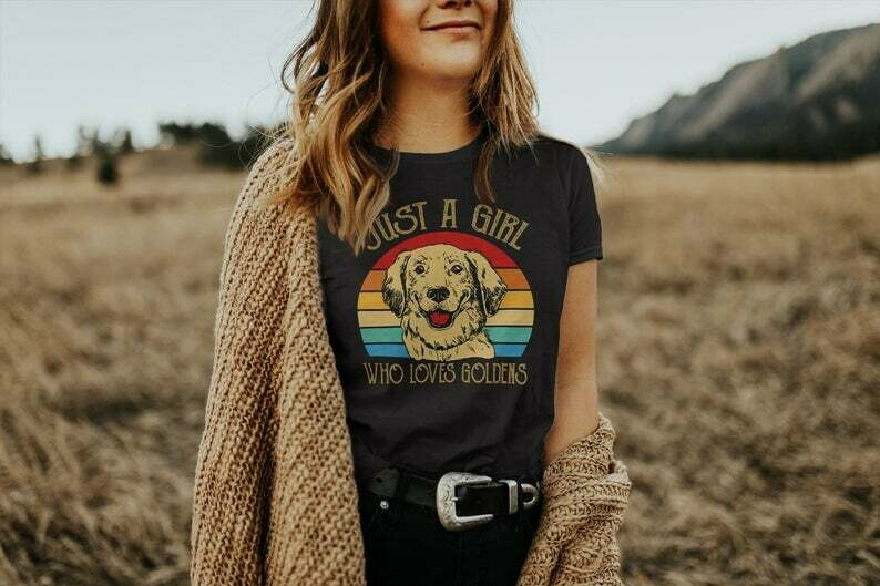 Golden Retriever Shirt, Golden Retriever Gifts, Vintage Dog Mom Shirt