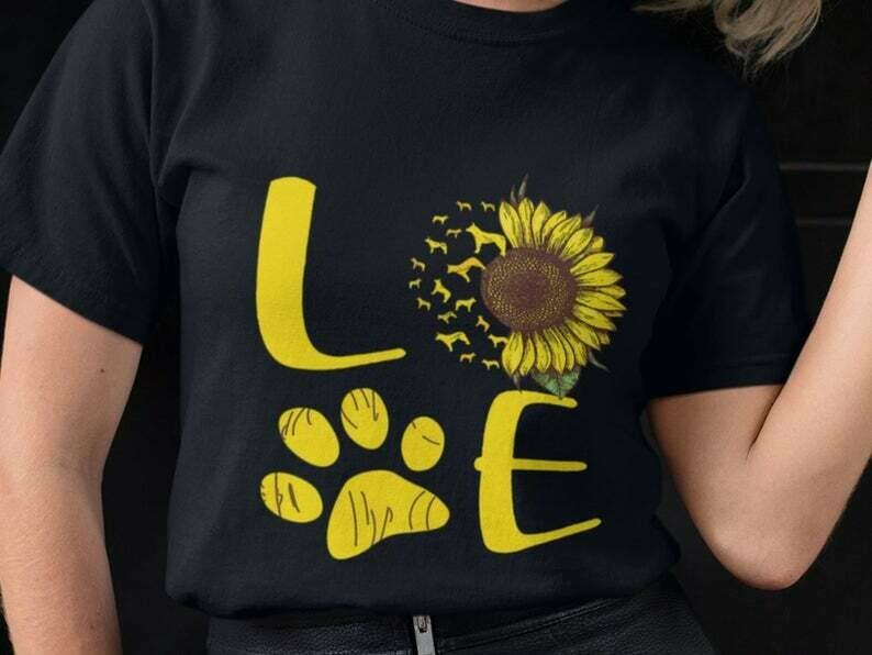 Cattle Dog Shirt, Sunflower Dog Shirt, Blue Heeler Shirt, Dog Lover Shirt, Funny Dog Shirt, Best Dog Mom Ever, I Love My Dog Shirt