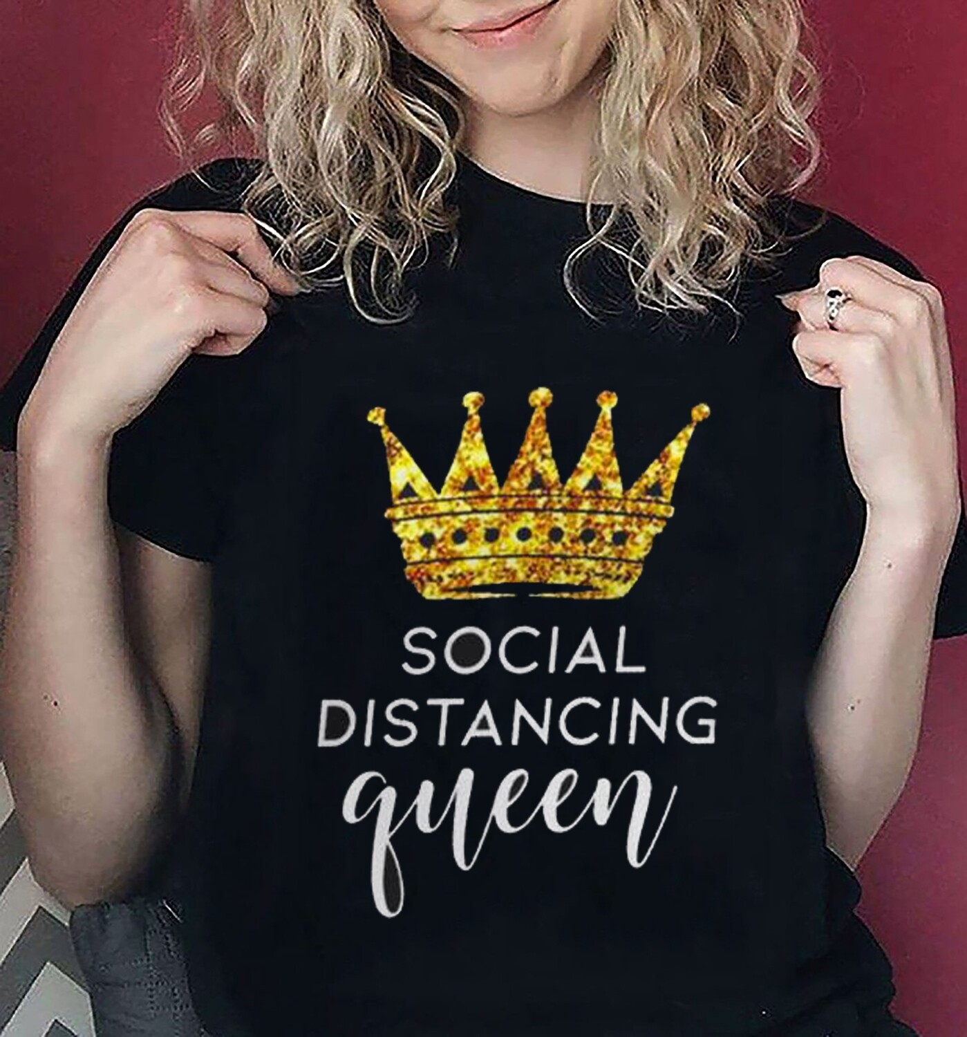 Quarantine Shirt, Social Distancing Queen Shirt, Wash Your Hands, Work From Home Shirt, Social Distancing, Stay Home, Introvert Mom T-Shirt