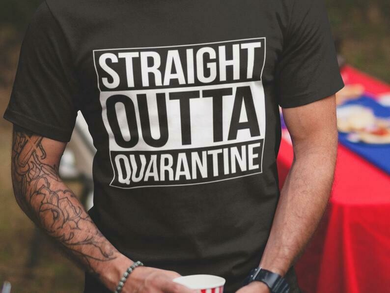 Straight Outta Quarantine Shirt, Straight Outta Shirt, Shirt Extender, Quarantine Shirt, Introvert Shirt, Germs Shirt, Flu Season