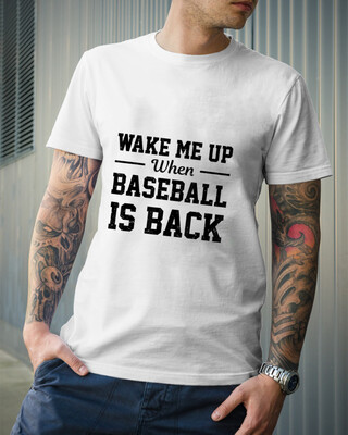Wake Me Up When Baseball Is Back, Baseball Lovers Gift T-Shirt