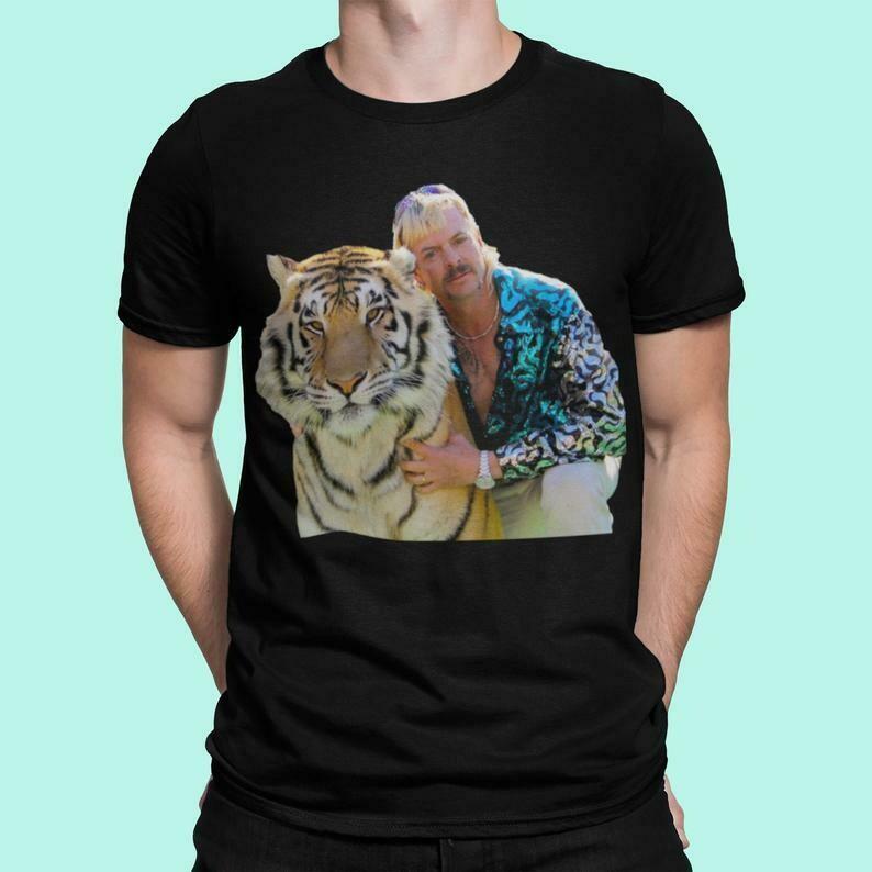 Tiger King Pose Custom T Shirt Unisex Mens & Women's Clothing, Cool Shirt, Meme Shirt, Meme Clothing, Cartoon Shirt, TV Show Shirt, Tigers