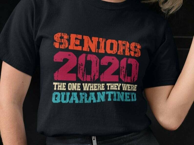 Class Of 2020 Graduation Senior Shirt, Stay At Home Shirt, Socially Distant, Shirt Extender, Quarantine Shirt, Introvert Shirt, Germs Shirt