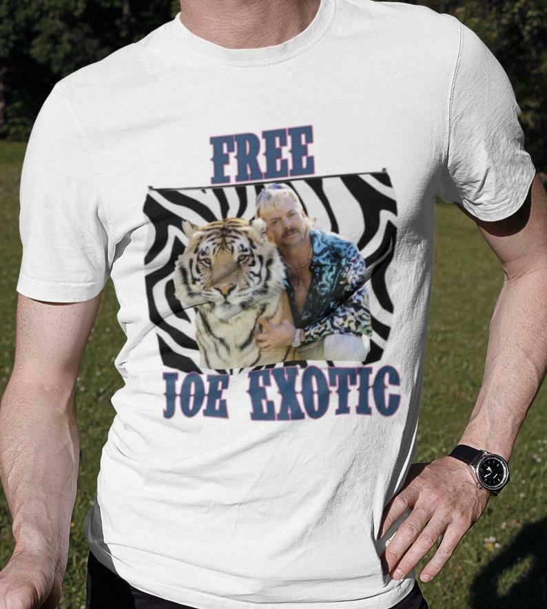 Free Joe Exotic/Tiger King unisex 90s aesthetic tee