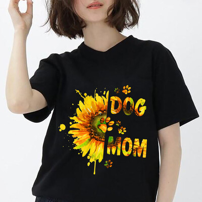 Dog Mom Shirt, Dog Mom Sunflower T-shirt Pet Lover Tee Gift for Dog Owner Funny Dog Shirt Mother's Day Gift For Women Mommy Grandma Aunt Unisex T shirt, Hoodie, Sweatshirt All size