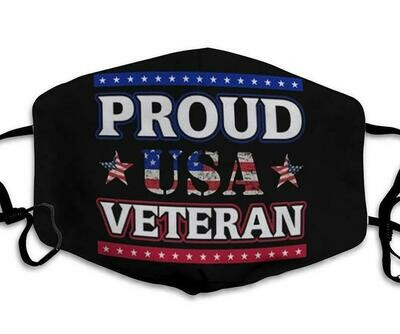 Proud US Veteran handmade facemask - can be washed comfortable to wear Anti Droplet Dust Filter Cotton Face Mask