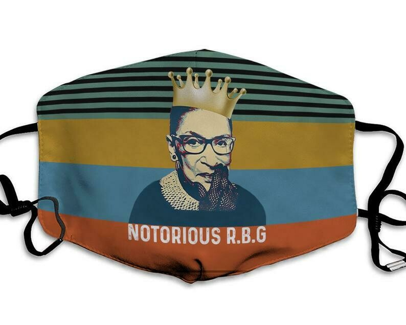 Notorious RBG Ruth Bader Ginsburg Vintage handmade facemask - can be washed comfortable to wear Anti Droplet Dust Filter Cotton Face Mask