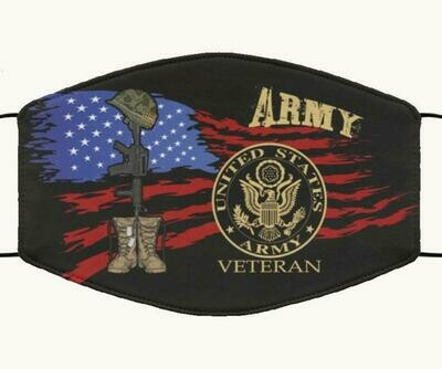 United States Army Veteran handmade facemask - can be washed comfortable to wear Anti Droplet Dust Filter Cotton Face Mask