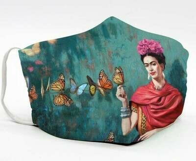 Painting Artwork Frida Kahlo Mexico handmade facemask - can be washed comfortable to wear Anti Droplet Dust Filter Cotton Face Mask