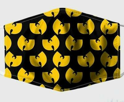 Yellow Wu-Tang Clan Logo handmade facemask - can be washed comfortable to wear Anti Droplet Dust Filter Cotton Face Mask