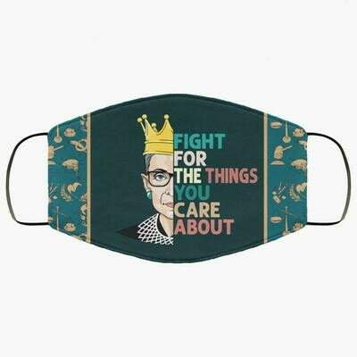 Fight For The Things You Care About Ruth 3 Layer Face Mask,Adult Kid FaceMask,Washable Reusable Face Mask