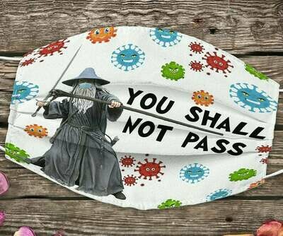 You Shall Not Pass Lord of the Rings With Elvish facemask - can be washed comfortable to wear Anti Droplet Dust Filter Cotton Face Mask