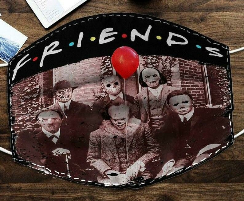 Friends IT Pennywise We All Float Down Here Squad Friday The 13th Villains Halloween Horror movie comfortable Dust Filter Cotton Face Mask