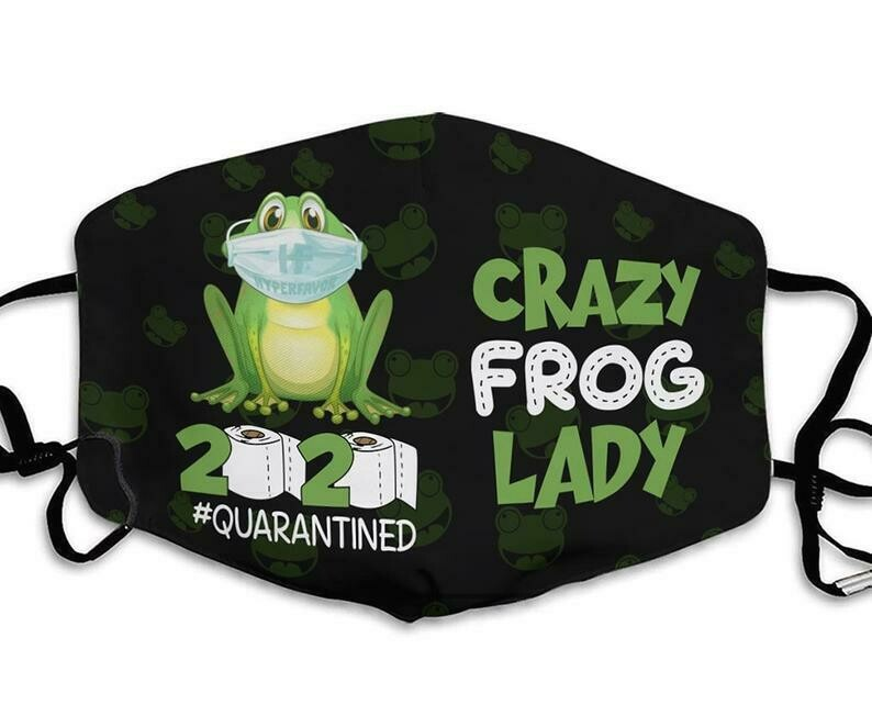 Crazy Frog Lady 2020 Quarantined handmade facemask can be washed comfortable to wear Dust Filter Cotton Face Mask