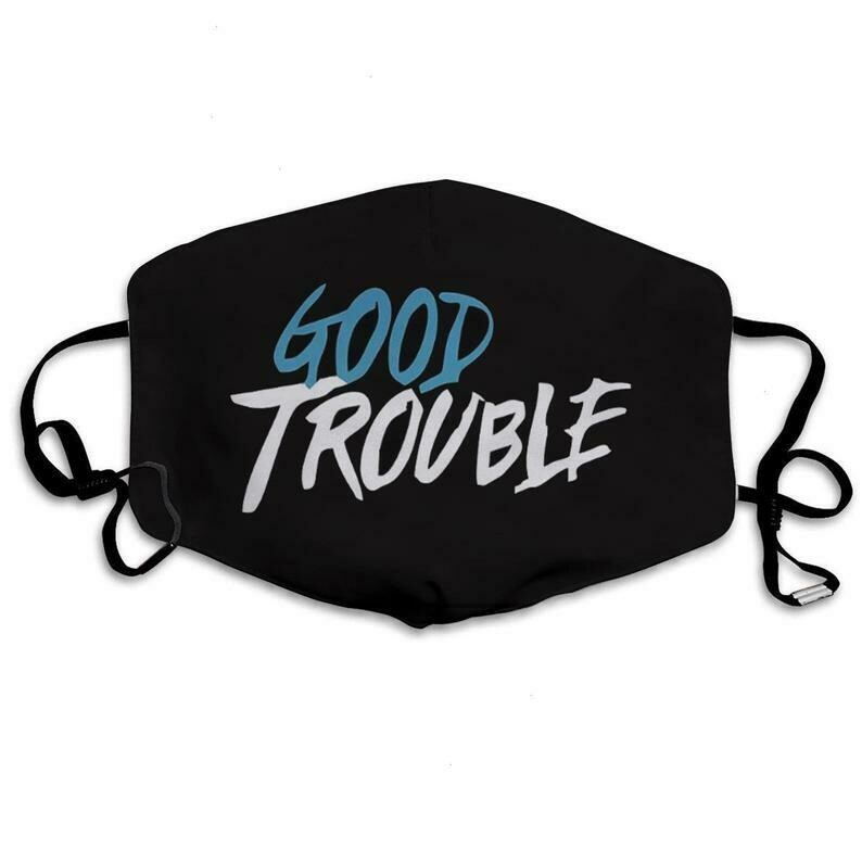 Good Trouble Necessary Trouble John Lewis 3 Layer Face Mask,Adult Kid FaceMask,Washable Reusable Face Mask,FAST Shipping Made in USA