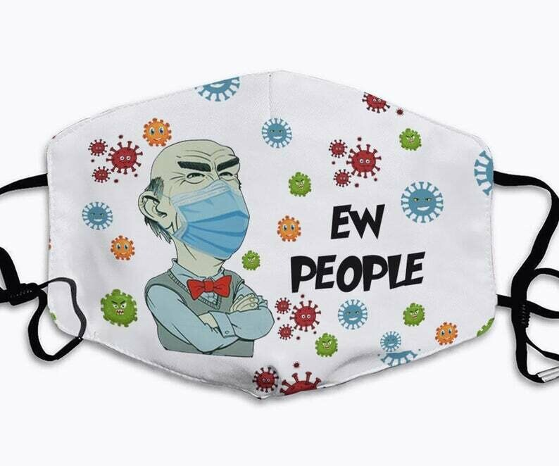 Grumpy Old Men Ew People Club Jeff Dunham handmade facemask - can be washed comfortable to wear Anti Droplet Dust Filter Cotton Face Mask