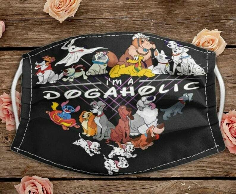 I'm A Dogaholic Dogs Lovers handmade facemask - can be washed comfortable to wear Anti Droplet Dust Filter Cotton Face Mask