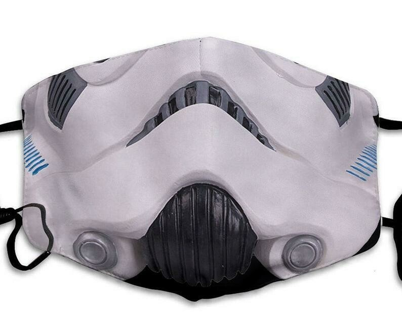 Stormtrooper Soldier Face Star Wars Dark Vader handmade facemask can be washed comfortable to wear Anti Droplet Dust Filter Cotton Face Mask
