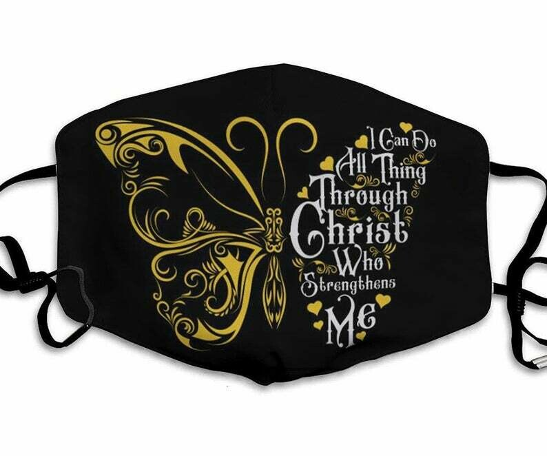 I Can Do All Things Through Christ Who Strengthen Me Faith Over Fear Jesus facemask - can be washed comfortable Dust Filter Cotton Face Mask