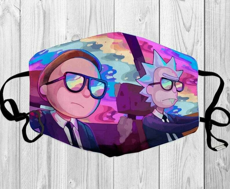 Rick And Morty Mashup handmade facemask - can be washed comfortable to wear Anti Droplet Dust Filter Cotton Face Mask