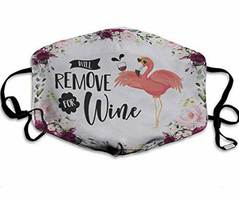 Will Remove For Wine Flamingo handmade facemask - can be washed comfortable to wear Anti Droplet Dust Filter Cotton Face Mask