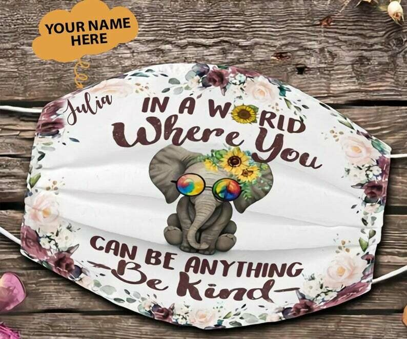 Elephants Be Kind facemask can be washed comfortable Dust Filter Cotton Face Mask