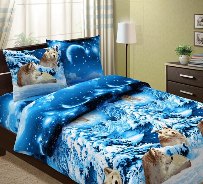 Комплект постельного белья из бязи Волки