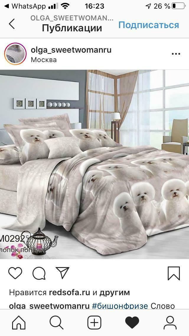Комплект постельного белья из поплина  БишонФризе