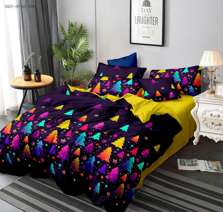 Комплект постельного белья из Сатина Новогодний пунш