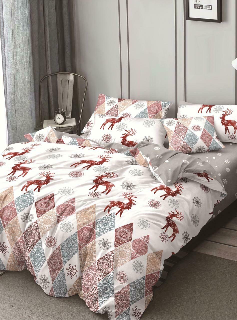 Комплект постельного белья из Сатина Новогодний подарок