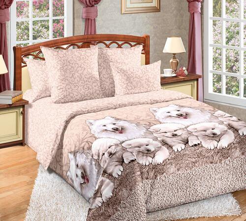 Комплект постельного белья из перкаль Самоеды