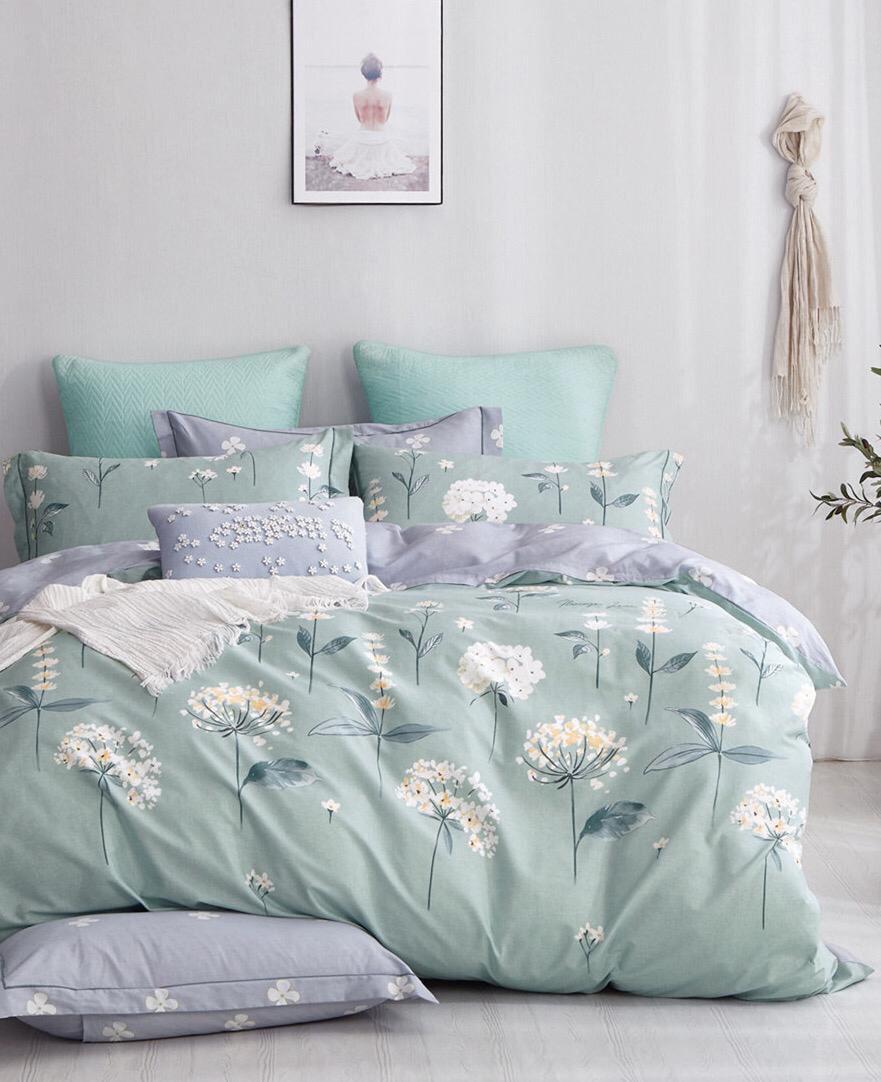 Комплект постельного белья из сатина Одуванчики