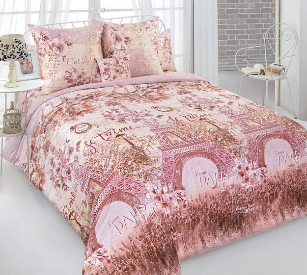 Комплект постельного белья из сатина Город любви