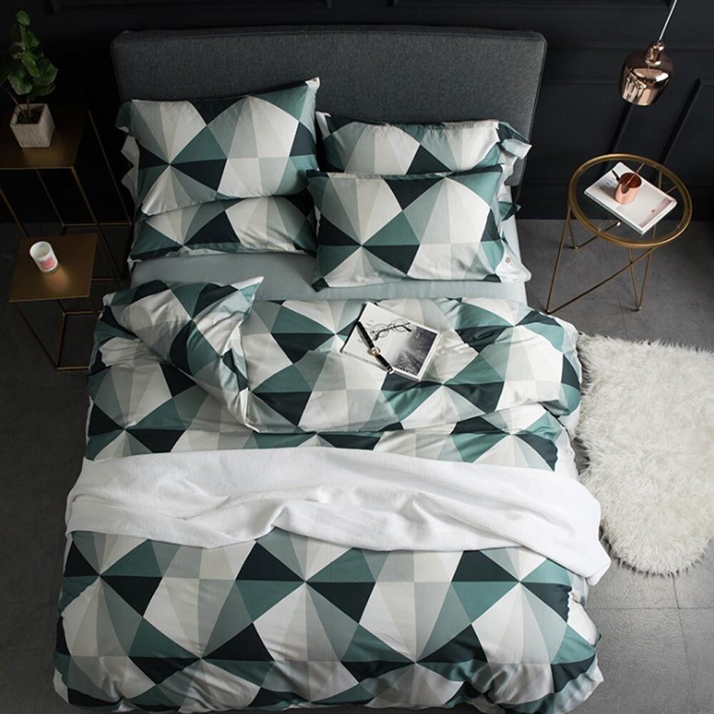 Комплект постельного белья из поплина Геометрия