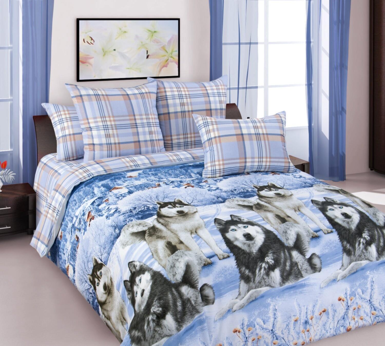 Комплект постельного белья из поплина Хаски