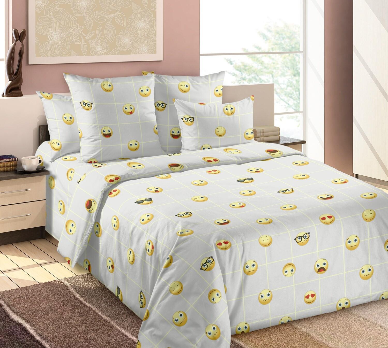 Комплект постельного белья из бязи Смайлы