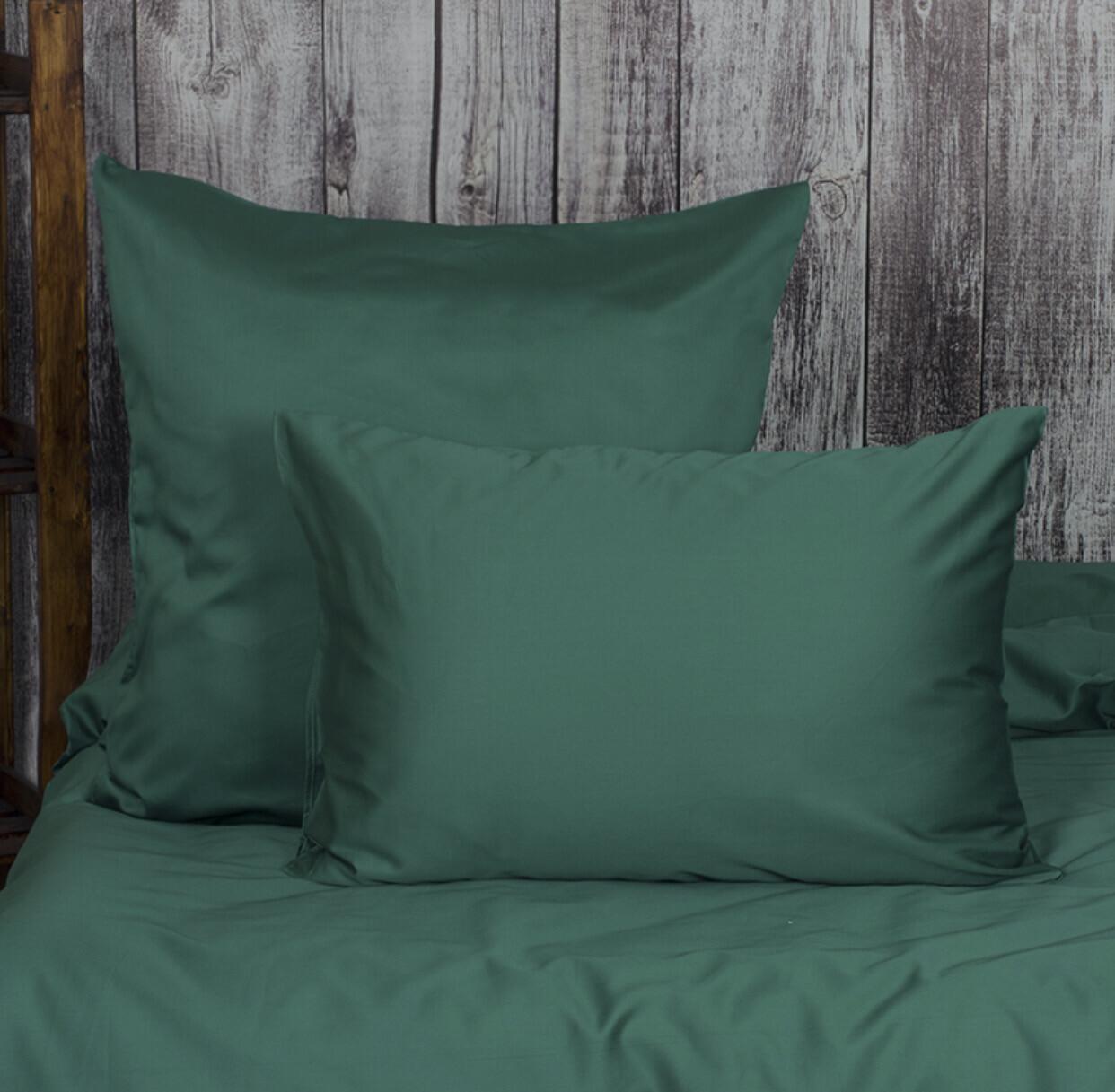 Комплект постельного белья из сатина Зеленый