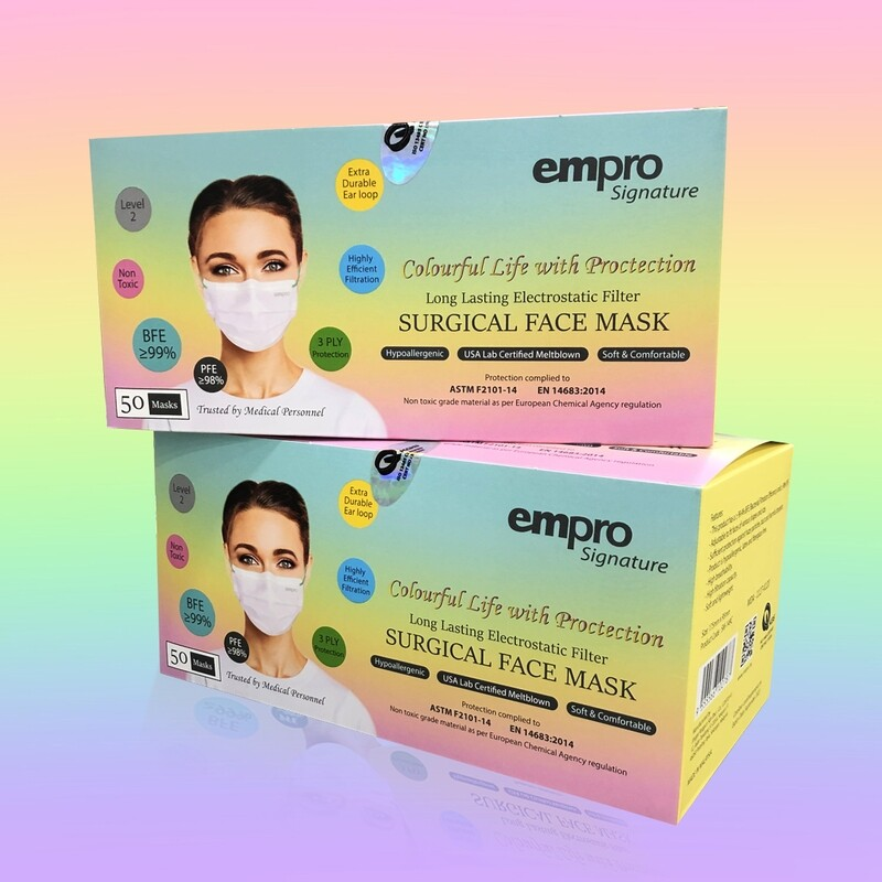 EMPRO SIGNATURE Surgical Face Mask (SM-149C) 50PCS- BFE ≥99%