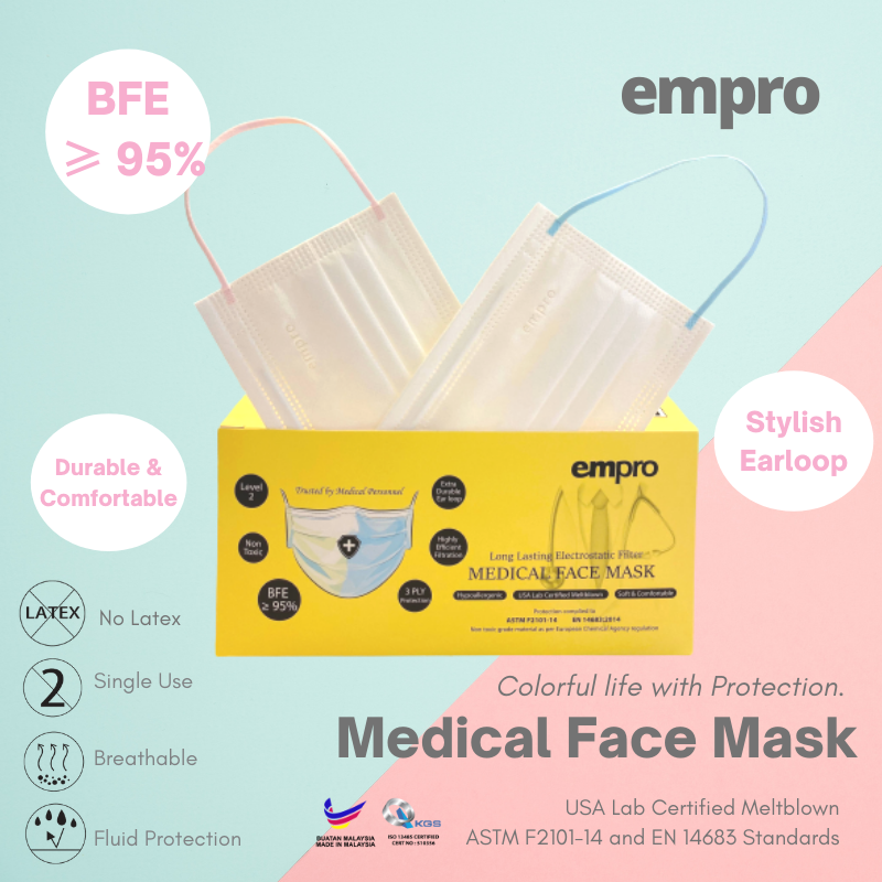 EMPRO Medical Face Mask (MM-139) 50PCS -  BFE ≥95%