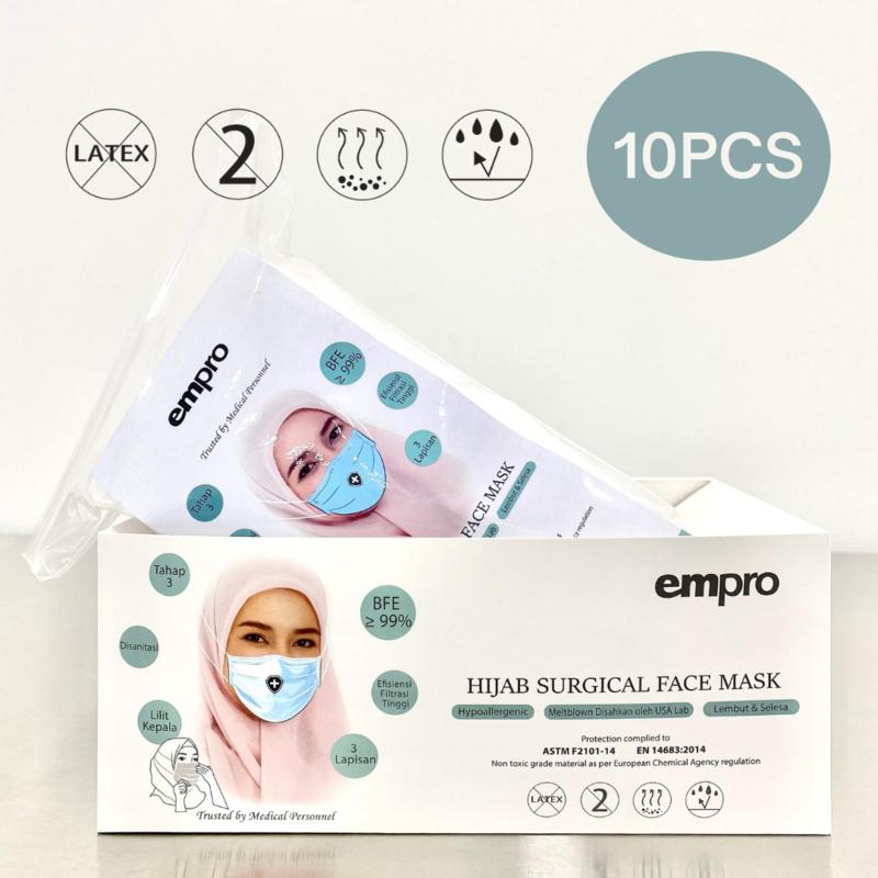 EMPRO Hijab Surgical Face Mask (HSM-194) 10PCS- BFE ≥99%