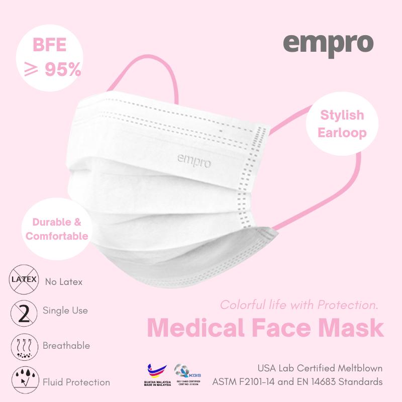 EMPRO Medical Face Mask (MM-139) 10PCS -  BFE ≥95%