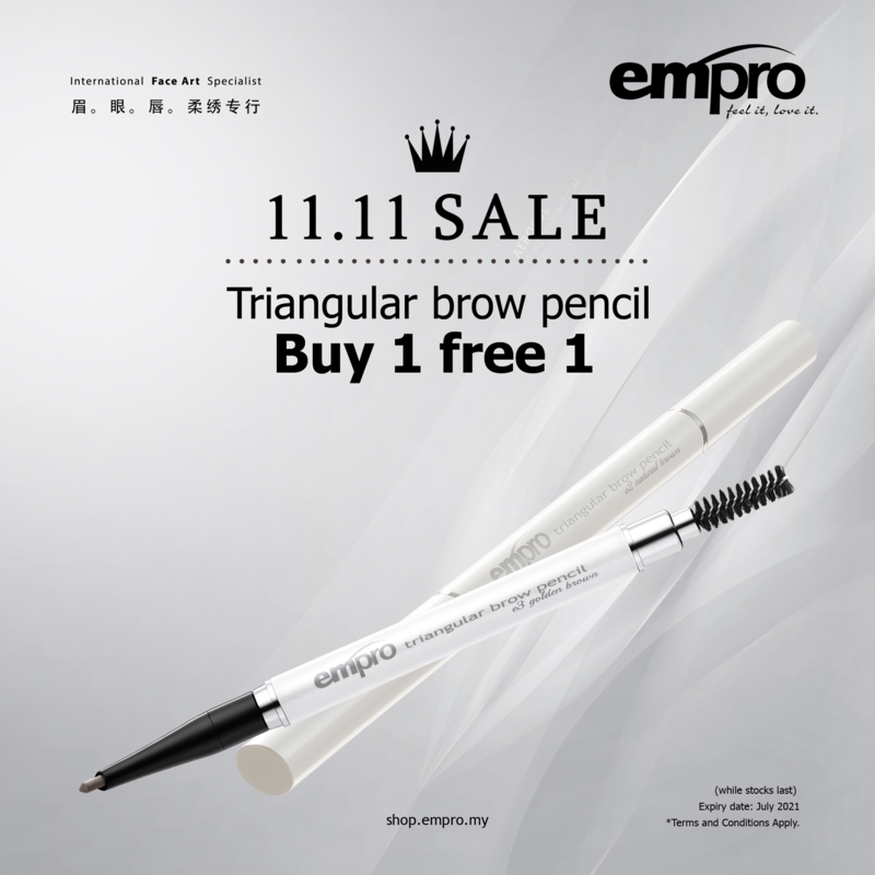 (BUY 1 FREE 1) Triangular Brow Pencil